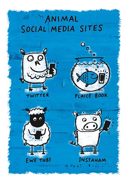Grintastic Birthday Card Animal Social Media Funky Pigeon