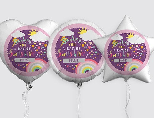 Happy Birthday Balloons With Names ~ Helium balloons for her funky pigeon