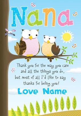 Personalised Card Giggles Nana Jpg 284x404 Happy Birthday Nanny Poems