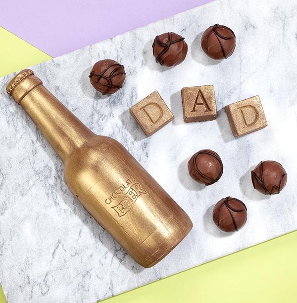 Dad Chocolates & Chocolate Beer Bottle