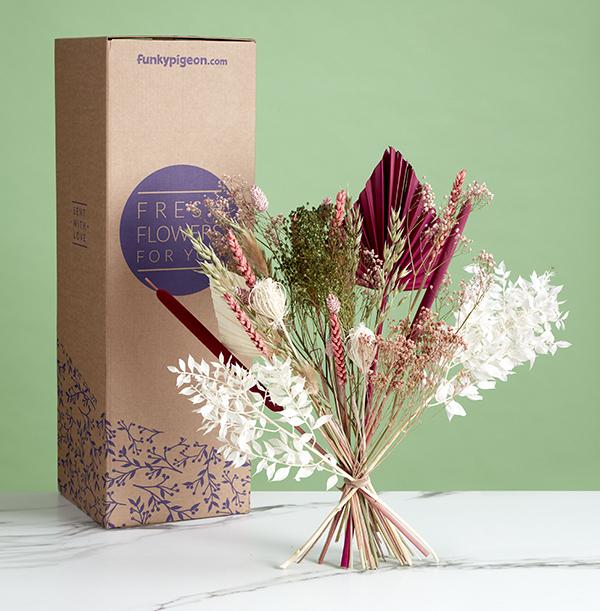 The Luxury Divine Pink Dried Flower Bouquet - £39.99
