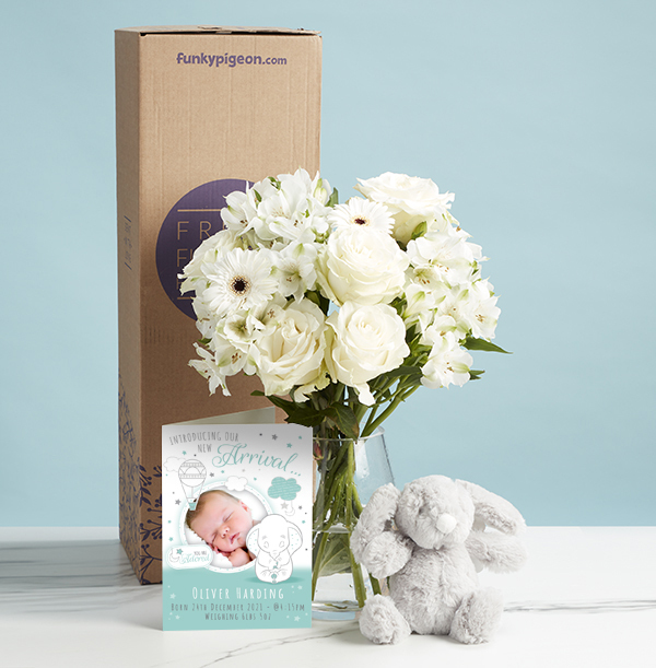 The New Baby Bouquet and Bunny Gift Set - £36.99