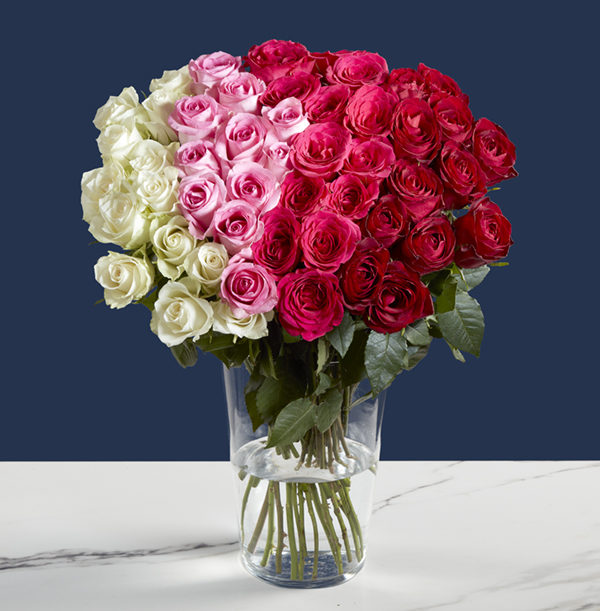 The 50 Ombre Roses Bouquet - was £79.99, now £59.99