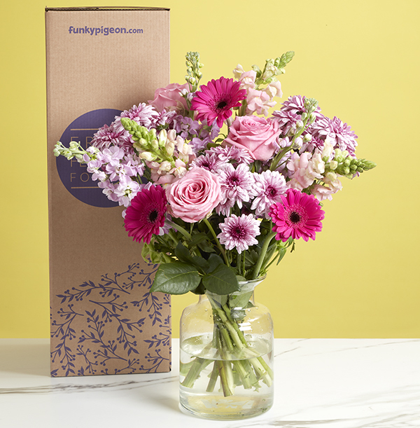 The Pretty In Pink Medley Bouquet - £27.99