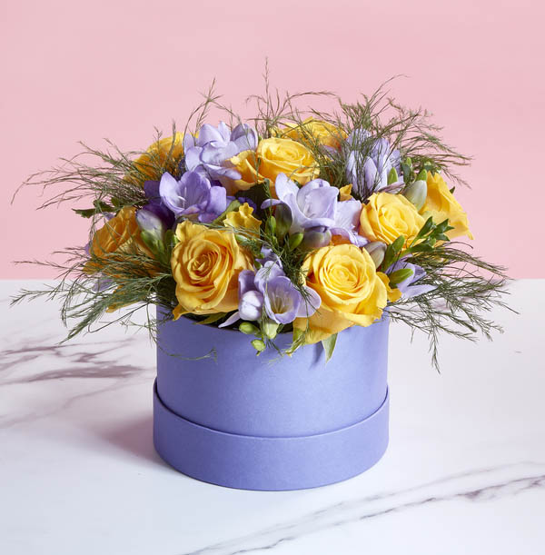 The Freesia  and Rose Spring Hatbox - £36.99