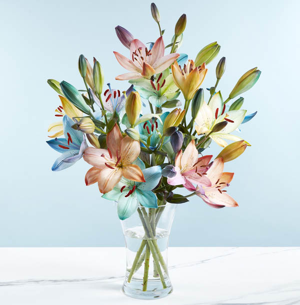 The Rainbow Lilies Bouquet - £27.99