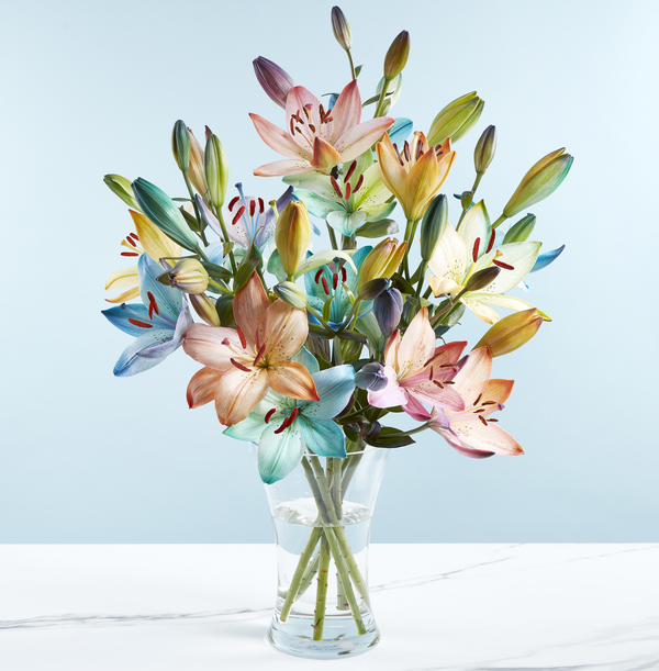 The Rainbow Lilies Bouquet - £26.99