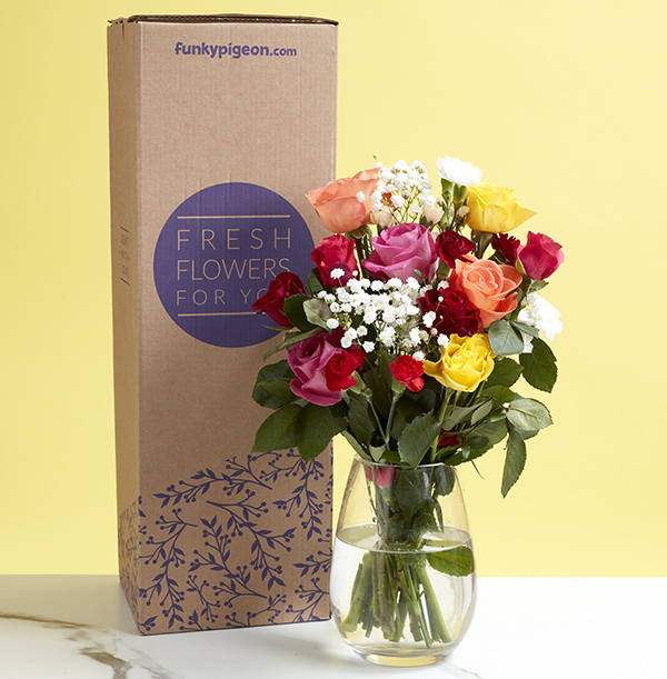 The Colourful Rose & Carnation Bouquet - £24.99