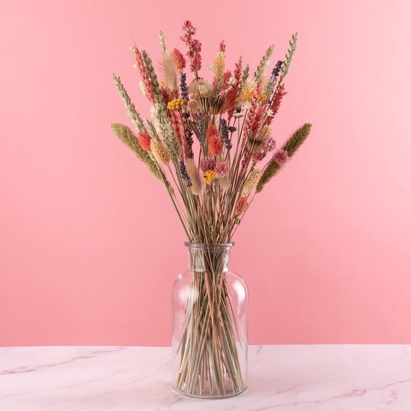 The Vintage Pink Hand Tied Dried Flower Bouquet - £29.99