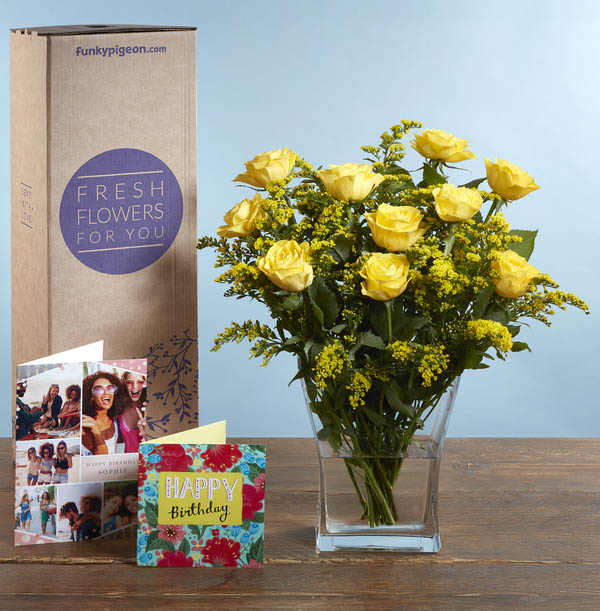 The Yellow Roses Bouquet - £21.99