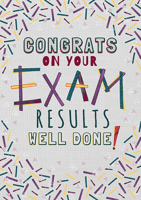 congrats on your exam results card funky pigeon