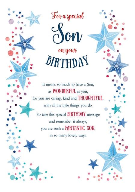 Astonishing Special Son Birthday Card Funky Pigeon Funny Birthday Cards Online Alyptdamsfinfo