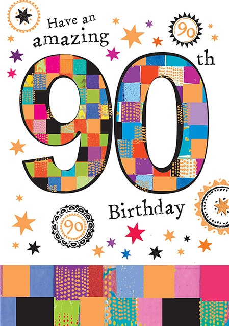 Amazing 90th Birthday Card