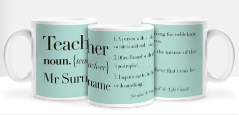 teacher mugs personalised mugs for teachers funky pigeon