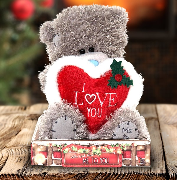 I Love You - Christmas Tatty Teddy Bear