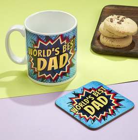 Best Dad Mug & Coaster Set
