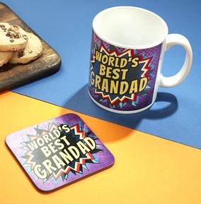 World's Best Grandad Mug & Coaster Set