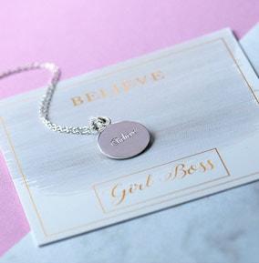 Believe Silver Necklace