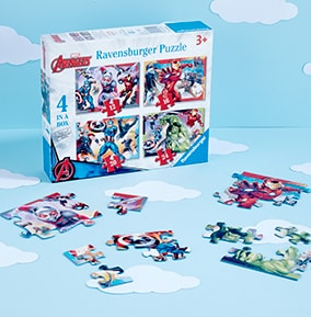 Marvel Avengers 4 In A Box (12, 16, 20, 24pc) Jigsaw Puzzles