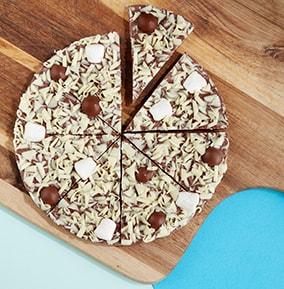 Honeycomb & Marshmallow Chocolate Pizza