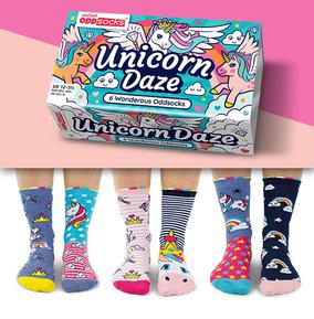 Kids Unicorn Daze Oddsocks Size 12-5