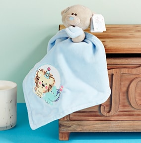 Blue Comforter Tatty Teddy for Baby Boy