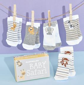 Babies Safari Socks 0-12 Months