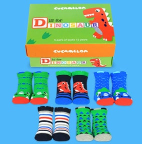 Toddler's Dinosaur Socks 1-2 Years