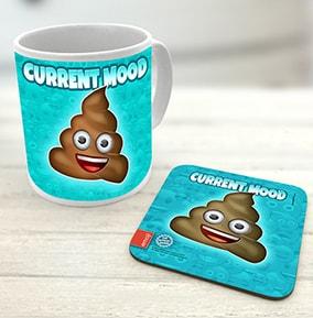 Poo Emoji Mug & Coaster Set