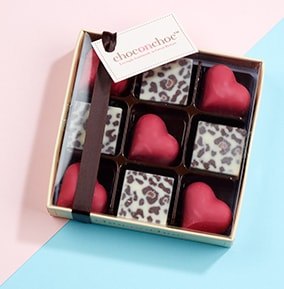 Hearts and Leopard Chocolates