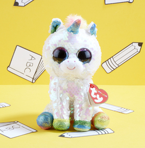 Pixy the Flippable Unicorn Sequin TY Beanie Boo