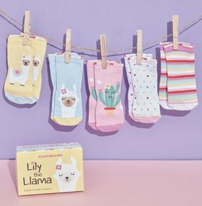 Toddler  Lily The Llama Socks