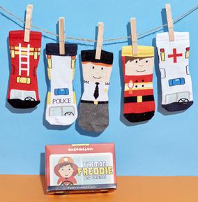 Kids Fireman Freddie & Friends Socks 2-4 Years