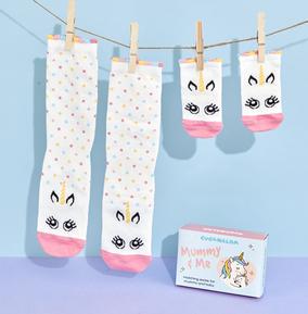 Funky Pigeon Exclusive Mummy & Me Unicorn Socks
