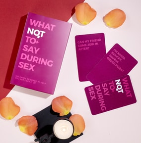 What Not To Say During Sex Card Game