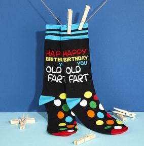 Men's Happy Birthday Old Fart Socks