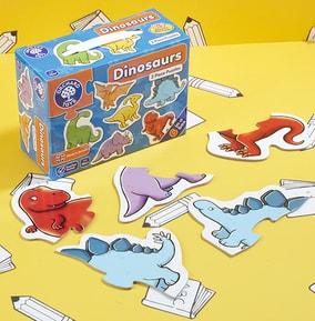 Dinosaur Two Piece Jigsaw Puzzles