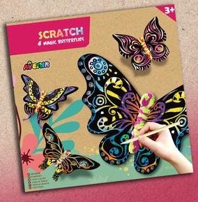 Scratch Art - Butterfly
