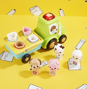 Vtech Shapes and Animals Pull Along Tractor