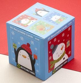 Cute Characters Christmas Card Box Set