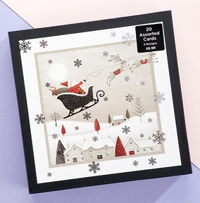 Assorted Pack of Christmas  Scenes - Pack of 20