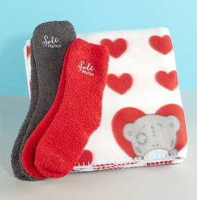 Tatty Teddy  Blanket &  Double Socks Snuggle