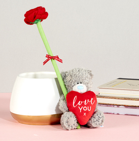 Tatty Teddy  With Rose In A Gift Box