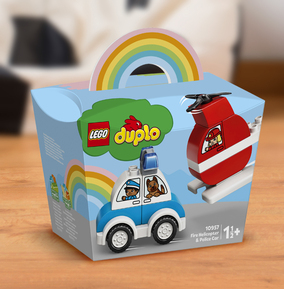 LEGO Duplo Fire Helicopter & Police Car