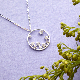 Sparkle Stars In Hoop Necklace