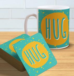 Hug - Mug & Coaster Set