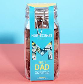 Montezuma's  No. 1 Dad' Milk Button Jar