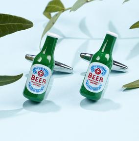 Beer bottle cufflinks