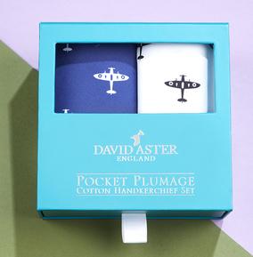 Spitfire Print Cotton Handkerchief Set