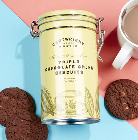 Cartwright & Butler Triple Choc Chunk Biscuits in Tin